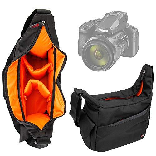 DURAGADGET Bandolera Compatible con Cámara Nikon D780, Canon EOS-1D X Mark III - con Compartimentos Interiores Y Correa De Hombro Ajustable