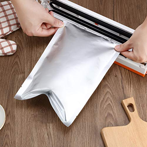 10 Pieces 3 Sizes Mylar Aluminum Foil Bags, Metallic Mylar Foil Flat Heat Sealable Bags Storage Bags Pouch for Food Coffee Tea Beans (8 x 12 Inch, 10 x 15 Inch, 14 x 20 Inch)