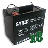 Set 8 x Batería AGM 60Ah 12V Fotovoltaico, Solar, Acumulación, Batería de descarga lenta