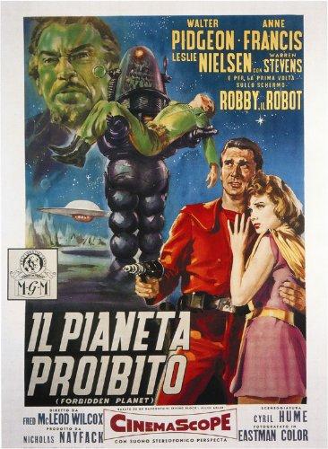 Forbidden Planet Poster Italian B 27x40 Walter Pidgeon Anne Francis Leslie Nielsen