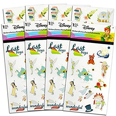 Classic Disney Peter Pan Stickers Party Favors Set ~ Bundle Includes Over 100 Peter Pan Stickers Featuring The Boy Who Wouldn't Grow Up in Neverland (Peter Pan Party Supplies)