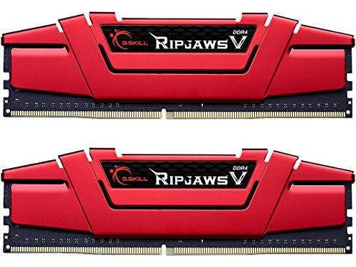 G.SKILL 16GB (2 x 8GB) Ripjaws V Series DDR4 PC4-19200 2400MHz for Intel X299   Z270   Z170   X99 Platform Desktop Memory Model F4-2400C17D-16GVR