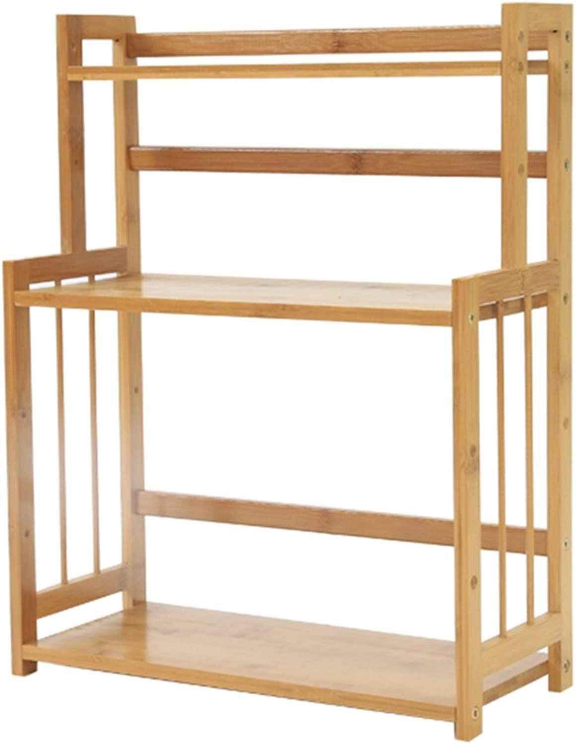 3 Tier Countertop Worktop for Kitchen Spice Rack Spice Holder Counter Top Bamboo Shelf, 41  18  48cm