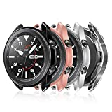 <span class='highlight'><span class='highlight'>FYOUNG</span></span> Protective Case Cover for Samsung Galaxy Watch 3 41mm, 4 Pack Soft TPU Scratch-Resist Frame Protective Cover Bumper Shell Protector for SM-R840 - Clear/Black/Silve/Rose Gold