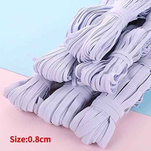 FADDARE Flaches Gummiband, Nähband aus elastischem Band, Seilspule aus elastischem, flach gewebtem Band zum Stricken, Taillenbinden und Basteln von Kleidung