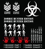 THEME-ZHE-MWHI - Matte White Vinyl Zombie Hunter Edition Theme Package - (29) Piece Kit - Fits Jeep & Toyota Wrangler TJ / LJ / JK / JKU, Cherokee XJ, Grand Cherokee ZJ / WJ / WK / WK2, FJ Cruiser