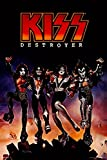 Kiss Destroyer Laminated Dry Erase Sign Poster Album Cover Vinyl Kiss Poster Kiss Band Merchandise Kiss Collectibles Kiss Memorabilia Heavy Metal Music Merch 1970s Retro Vintage Makeup Poster 12x18