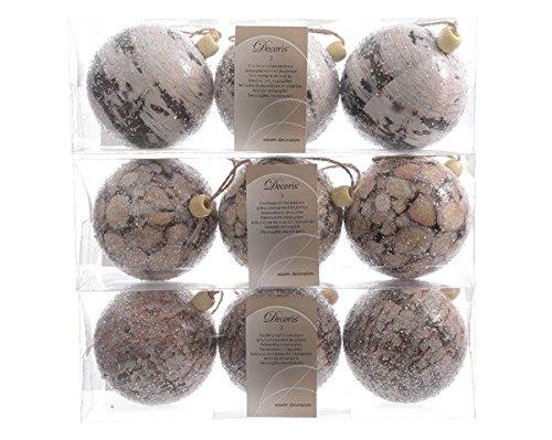 Kaemingk Boule de Noël en Mousse déco Bois X3