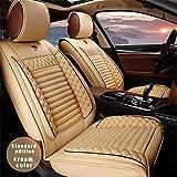 All Weather Custom Fit Seat Covers for Hyundai Santa Fe Sport 5-Seat Full Protection Waterproof Car Seat Covers Ultra Comfort Beige Full Set