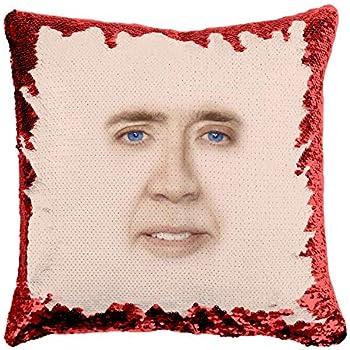 Nic Cage as Jesus Throw Pillow Pillow