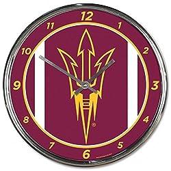 NCAA Arizona State Sun Devils WinCraft Official Chrome Clock