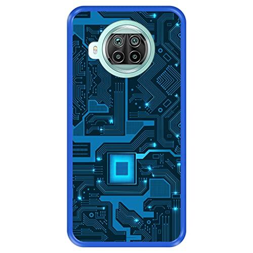 Hapdey Funda Azul para [ Xiaomi Mi 10T Lite 5G ] diseño...
