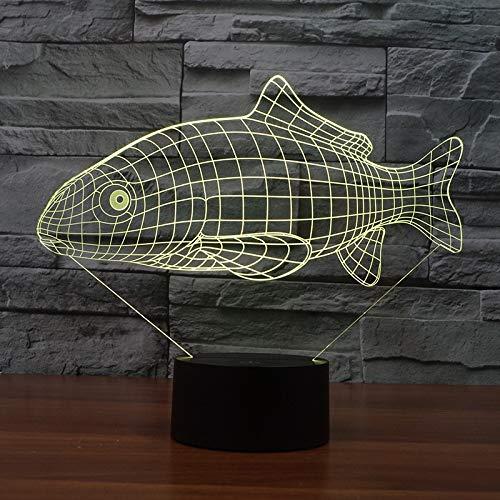 Little Fish Led Lámpara de mesa pequeña 3D Acrílico Fule Decoración de color Lámpara de mesa de luz nocturna Mesa moderna Lámpara de mesa de escritorio