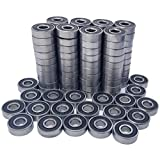 100 Pack 608-2RS Skateboard Bearing, Rolling Bearings, 8x22x7mm 608rs Bearing