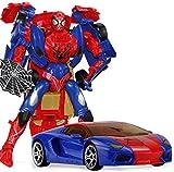 5 Transformadores De Spider-Man Personaje De Acción Modelo Transfiguración del Robot Figura Movible Conjunto Colección Animada Modelo Estatua Decoración - Regalos De Los Niños-26cm A