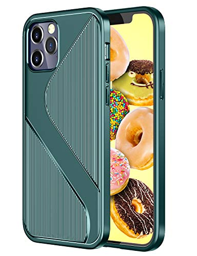 Silicone Cases Compatible with iPhone 12 Pro Max Case, Slim Silicone Carbon Fiber Ultra-Thin Case Rubber Shockproof Cover Anti-Fingerprint Non-Slip Phone Case Shell for iPhone 12 Pro Max