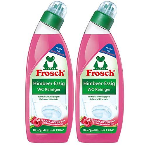 Frosch Himbeer-Essig WC-Reiniger 750 ml - Gegen Kalk und Urinstein (2er Pack)