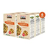 Explore Cuisine Organic Chickpea Fusilli (6 Pack) - 8 oz - Easy to Make Gluten-Free Pasta - High in Plant-Based Protein - USDA Certified Organic, Non-GMO, Vegan, Kosher - 24 Total Servings