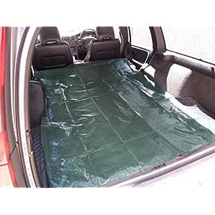 XtremeAuto® tarpaulin_bootliner31 Waterproof, 100 Denier Tarpaulin Boot Liner With Steel Ring, Green