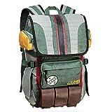 Rebels Alliance Icon Boba Fett Laptop Backpack Star Wars Element Bag Travel Bag with a Luggage Tag (Boba Fett)
