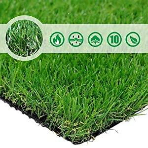 Landscape - Artificial Grass Patch - Realistic & Thick Fake Grass Mat for Outdoor Garden
