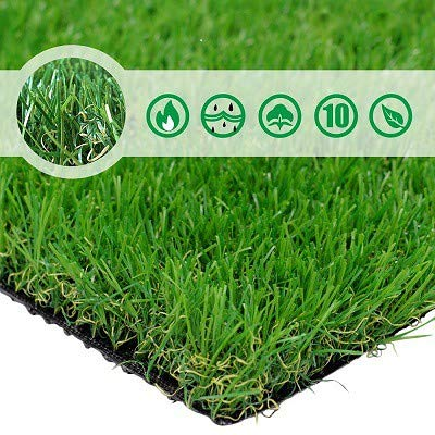 PET GROW Artificial Grass Turf 8FTX10FT(80 Square FT),Realistic Indoor Outdoor Garden Lawn Landscape Patio Synthetic Turf Mat- Thick Fake Faux Grass