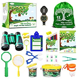 RUVVAS Kids Outdoor Adventure Pack – Natural Exploration Set for Boys and Girls, Educational Early Learning Toys for Studying Plants, Animals and Bugs, Bug Catcher Set