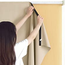 RYB HOME Sun Blocking Curtain Blind Cordless Window Shades Liner for Indoor Outdoor Use Without Curtain Rod, Icludes Sticky Strap for Easy Installation, Width 6ft by Length 6ft, Cream Beige