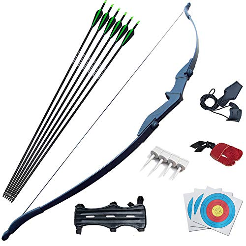 D&Q Archery Bow and Arrow for Adults Beginner Takedown Recurve Bow Archery Set 30 40Lbs for Left and Right Handed Hunting Training Practice(40Lbs)