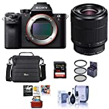 Sony a7R II Alpha Full Frame Mirrorless Camera with FE 28-70mm f/3.5-5.6 OSS Lens - Bundle with Camera Case, 128GB SDXC U3 Memory Card, 55mm Filter Kit, Cleaning Kit, Pc Softwate Package
