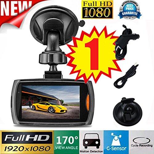 Gaddrt Full HD 1080p Dash Cam DVR cruscotto della macchina fotografica integrato G-Sensor Night Vision 170° obiettivo grandangolare Dashcam