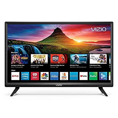 Vizio D-Series 24inch HD (720P) Smart LED TV, Smartcast + Chromecast Included - D24H-G9 (Renewed) from Vizio
