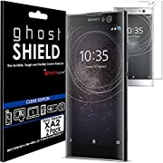 TECHGEAR [2 Pack] Screen Protectors to fit Sony Xperia XA2 [ghostSHIELD Edition] Genuine Reinforced Flexible TPU Screen Protector Guard Covers with Full Screen Coverage inc Curved Screen
