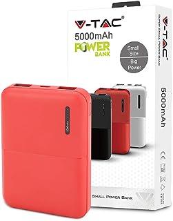 V TAC Super Portable Powerbank   5000mAh Ultra Hochkapazitäts Netzteil Leistungsstarke 5V/2A Doppelausgangs Ladetechnologie (rot)