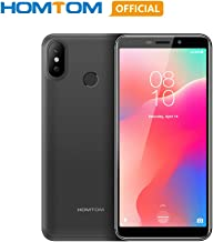 Original HOMTOM C1 Android 8.1 Unlocked Smartphone, 1GB RAM 16GB ROM Quad Core Global 3G Mobile Phone, 3000mAh 5.5 inch 18:9 Full Display 13MP Rear Camera Fingerprint Dual SIM Card Cell Phone- Gray