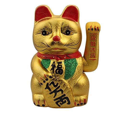 Superfreak Glückskatze - Maneki-Neko - Winkekatze aus Keramik - 26 cm - Gold