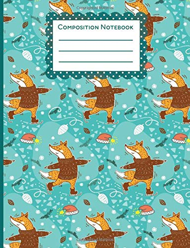 Composition Notebook: Cute Wide Ruled Paper Notebook Journal | Wide Blank Lined Workbook for Teens Kids Students Girls for Home School College for Writing Notes| 7.44 x 9.69 Inches (between A4 and A5)