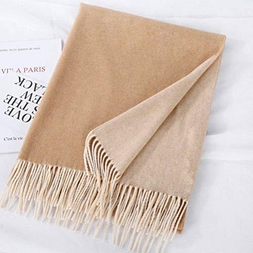 SLI-sjaal Cashmere sjaal vrouwelijke herfst en winter Wild zwart en wit Duizend vogel geruite wollen sjaal jas mantel, kameel, 200CM