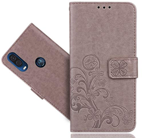 HülleExpert Motorola One Vision Handy Tasche, Wallet Hülle Cover Flower Bling Diamond Hüllen Etui Hülle Ledertasche Lederhülle Schutzhülle Für Motorola One Vision