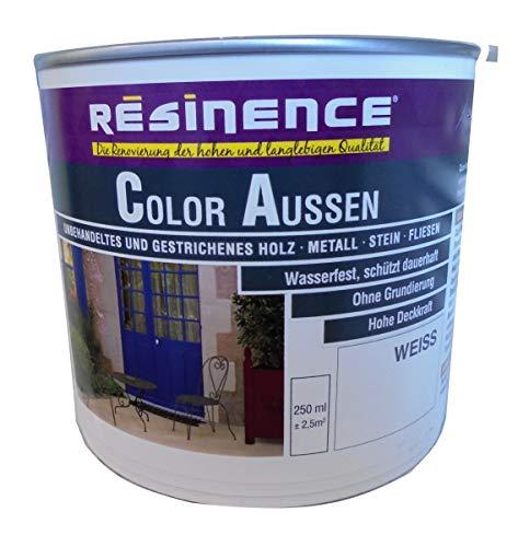 Resinence 250ml, Color Aussen Weiss Seidenmatt, Aussenbereich