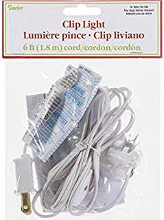 Darice Accessory Cord with 1 Lights, 6-Feet, White (2-Pack)