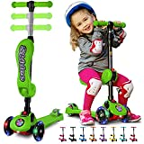 S SKIDEE Y100 Kick Scooter for Kids, Green