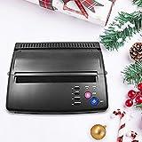 InLoveArts Máquina de transferencia de tatuajes Impresora térmica Máquina copiadora de impresora térmica de plantillas para tatuajes con 10 piezas de papel de transferencia térmica