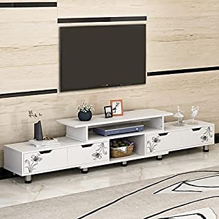 JANTENS TV Table Furniture,Scalable TV Stand for Living Room,TV Cabinet with Storage Function.