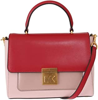 3c13acd898fa Michael Kors Red Pink Mindy Satchel Crossbody Bag