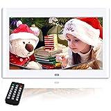 NeKan 10 pollici cornici digitali, 1024 × 600 ad alta risoluzione / 1080P HD portafoto digitale con telecomando