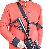 Rifle Sling - Correa de Rifle de 2 Puntos para Pistola de Dos a uno con Clips de rotación ampliados