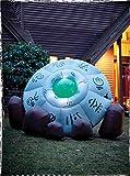 Forum Novelties Crashed Inflatable UFO, 10 Feet, White