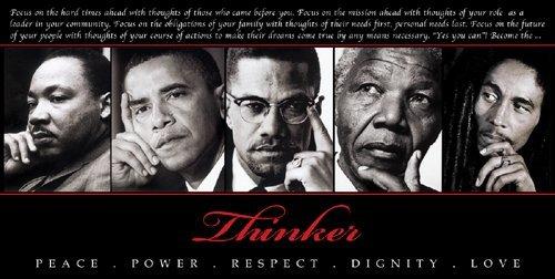 The Thinker II by Design Max Art Print Poster 36x18   King  Obama  Malcom X  Mandela  Marley