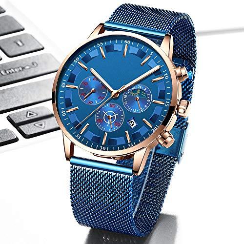Relojes de cuarzo para hombre de lujo de acero completo de los hombres relojes de pulsera fecha reloj militar impermeable cronógrafo Relogio Masculino